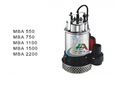 Máy bơm nước thải hiệu MASTRA MBA 550/MBA 750/MBA 1100/MBA 1500/MBA 2200